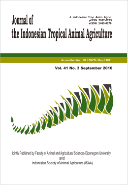 Jointly Published by Faculty of Animal and Agricultural Sciences