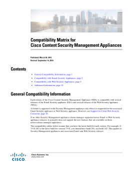 Compatibility Matrix for Cisco Content Security Management