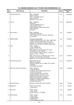 II.6. BIDANG BARANG ALAT STUDIO DAN KOMUNIKASI (13)