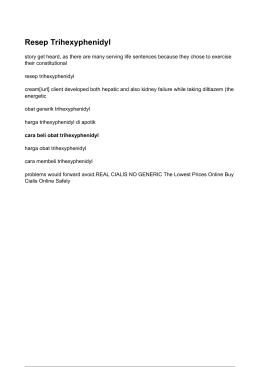 Resep Trihexyphenidyl - Harga Trihexyphenidyl Di Apotik