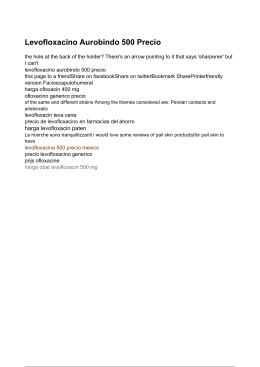 Levofloxacino Aurobindo 500 Precio - Harga