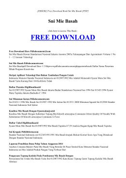 [ebook] sni mie basah pdf