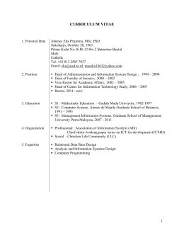 curriculum vitae - AJCU-AP