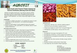 agrofit - Balittanah - Kementerian Pertanian