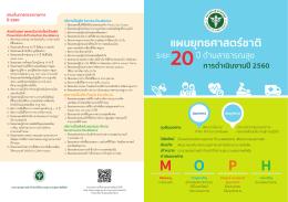9. brochure แผน 20 ปี - สำนักนโยบายและยุทธศาสตร์