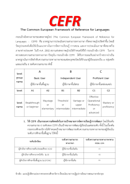 The Common European Framework of Reference for Languages ABC