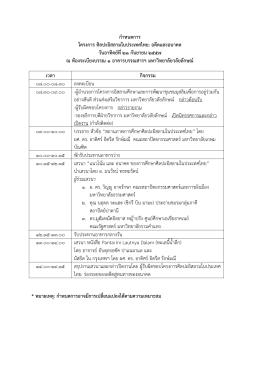 กำหนดกำร โครงกำร ศิลปะอิสลำมในประเทศไทย: อดีต