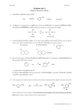 Problem Set 5 1) จงเรียงลำดับควำมเสถียรของ radical ต่อไปนี้ 2)