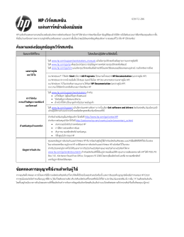 HP Workstation Quick Reference Card