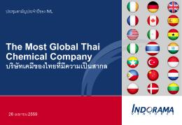 The Most Global Thai Chemical Company บริษัทเคมีของไทยที่มีความ