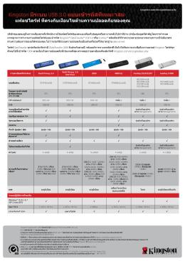 Kingston มีระบบ USB 3.0 แบบเข้ารหัสที่เหมะาสม