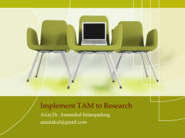 Implement TAM to Research