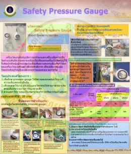 นวัตกรรม: Safety Pressure Gauge