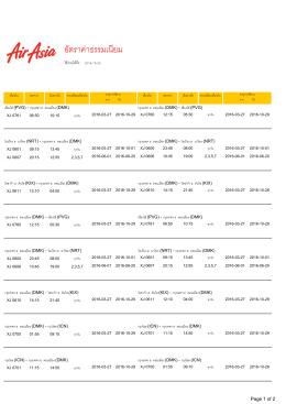 ไทยแอร์เอเชียเอ็กซ์ - ใช้งานได้ถึง 29 10 2560