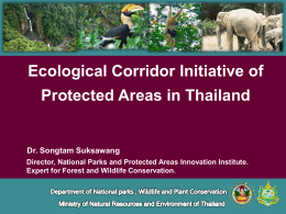 Ecological Corridor Initiative of Protected Areas in Thailand