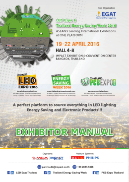 exhibitor manual - Led Expo Thailand
