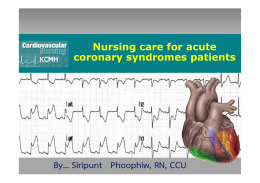 ACS Nursing care for acute coronary syndromes patients
