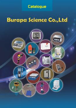 Catalogue - burapascience.com จำหน่ายเครื่องชั่ง เครื่องชั่งไฟฟ้า เครื่อง