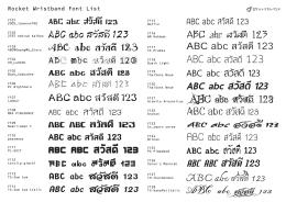 ตัวอย่าง font บนหน้าเว็บไซต์เหล่านี้