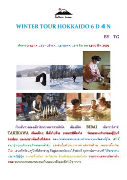 winter tour hokkaido 6 d 4 n