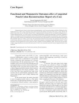 Functional and Manometric Outcomes after a