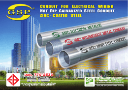 zinc-coated steel conduit for electrical wiring