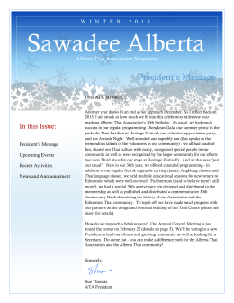 Sawadee Alberta - Alberta Thai Association