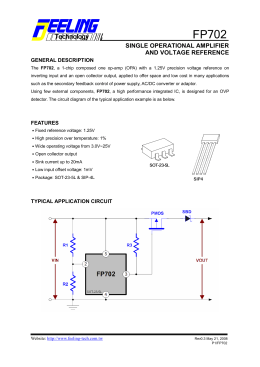 SINGLE OPERATIONAL AMPLIFIER AND VOLTAGE REFERENCE