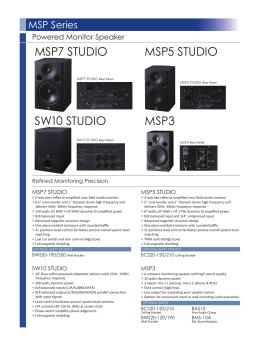 MSP7 STUDIO MSP5 STUDIO SW10 STUDIO MSP3
