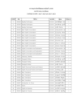 ตารางสรุป มคอ. 3 ระดับปริญญาตรี ภาคเรียนที่ 2-2555