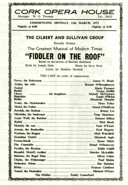 fiddler on the roof - Cork Past and Present
