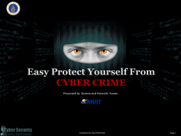 เอกสารประกอบ Easy Protect Yourself From CYBER CRIME