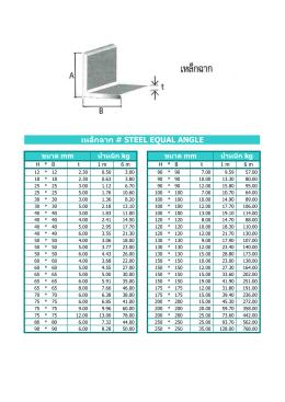 เหล็กฉาก # steel equal angle