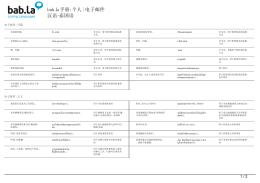 手册: 个人| 电子邮件(汉语-泰国语)