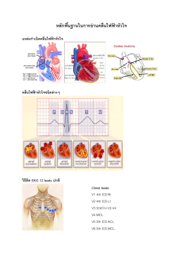 หลักพื้นฐานในการอ่านคลื่นไฟฟ้าหัวใจ