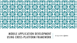 Mobile Application Development using cross