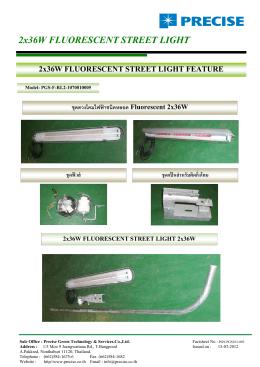 2x x36W W FLUO ORESC CENT T STRE EET L LIGHT T