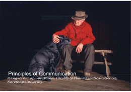 Principle of communication