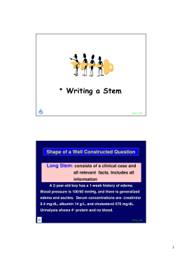 • Writing a Stem