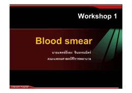 08-07-2553 Blood Smear อ.ยิ่งยง