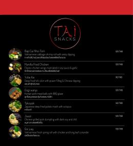 menu-TAi - Hua Hin Resort