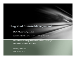 Dr. Chaisri Supornsilaphachai - Integrated Disease Management