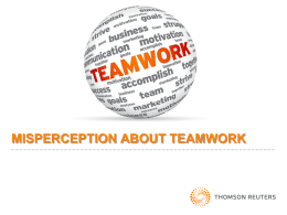 misperception about teamwork
