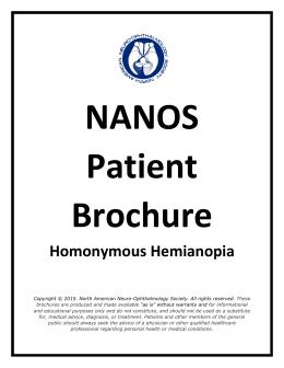 Homonymous Hemianopia - North American Neuro