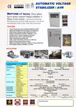 AUTOMATIC VOLTAGE STABILIZER / AVR