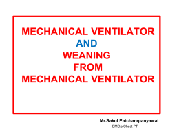 weaning from mechanical ventilator