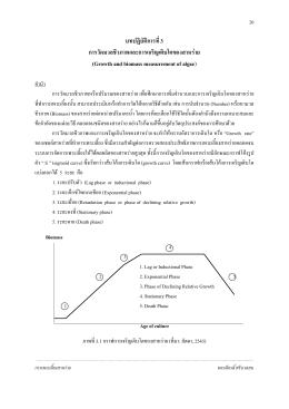 การวัดมวลชีวภาพและการเจริญเติบโตของสาหร่าย