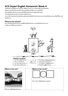 ACE Expert English Homework Week 3