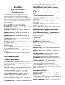 Booklist - Dhammatalks.org
