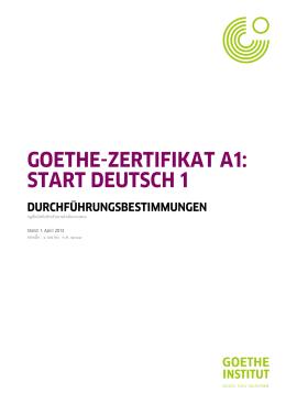 ระเบียบการในการดำเนินการ - Goethe